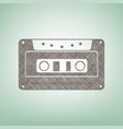 cassette icon audio tape sign brown flax vector image vector image