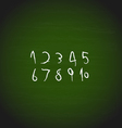 Chalk hand drawing Numbers design vector image