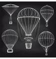Chalk hot air balloons blackboard vector image vector image