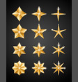 christmas decoration 2019 stars vector image