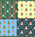 christmas seamless pattern background for vector image vector image