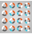 Circle arrows for infographic diagram graph vector image vector image