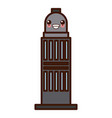 city building tower kawaii cute cartoon vector image