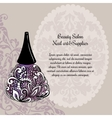 Creative nail lacquer promotional poster vector image