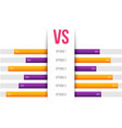 creative of service comparison vector image vector image