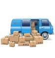 Delivery Minivan vector image