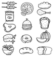 Doodle of food set stock vector image vector image