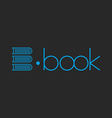 E-book logo abstract letter E of books mockup shop vector image vector image