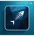 fish menu design template logo icon vector image vector image