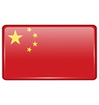 Flags China in the form of a magnet on vector image vector image