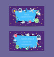 flat space icons business card template vector image vector image