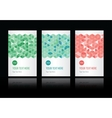 geometric pattern set of cards vector image vector image