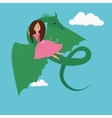 girl and the Dragon vector image vector image