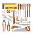 hand tool construction handtools hammer vector image vector image