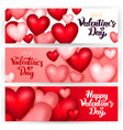 happy valentine day banners vector image vector image