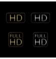 HD and Full HD icons vector image vector image