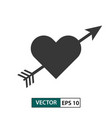 heart love icon with arrow isolated on white eps vector image vector image