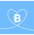 i love bitcoin icon vector image vector image