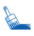 instrument brush work vector image vector image