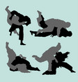 judo duel sport silhouette vector image vector image