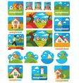 landscape emblems vector image