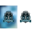 Lighthouse nautical banner vector image vector image