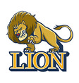 Lion Mascot vector image vector image