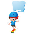 little boy playing skateboard vector image vector image