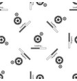 loading and gear icon seamless pattern vector image