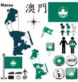 Macau map vector image vector image