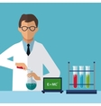 medical scientist experiment laboratory chemistry vector image vector image