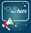 megaphone text bubble card with place for your vector image vector image