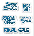 modern sale sticker and tag collection vector image vector image
