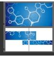 Molecule Brochure Design vector image