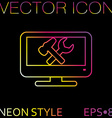 monitor symbol settings icon computer settings vector image vector image