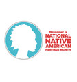 november is national native american heritage vector image vector image