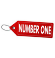 number one label or price tag vector image
