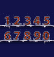 number winter classic on snow vector image vector image