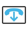 Phone Hang Up Framed Icon vector image vector image