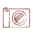 photo camera icon in dark red blurred silhouette vector image vector image