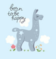 poster for nursery with a llama graphics vector image vector image