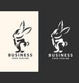 rabbit logo template icon design vector image vector image