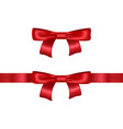 realistic detailed 3d red bow vector image