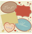 Retro romantic love stickers and tags vector image vector image