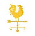 Rooster weather vane vector image vector image