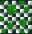 seamless pattern green clovers vector image vector image