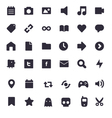 set multimedia icons vector image vector image