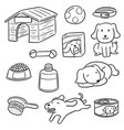 set of dog accessories vector image vector image