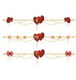 set of valentine dividers vector image