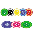 sewing buttons vector image vector image